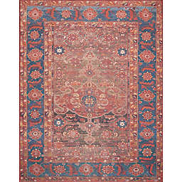 Magnolia Home by Joanna Gaines Lucca Rug in Rust/Blue