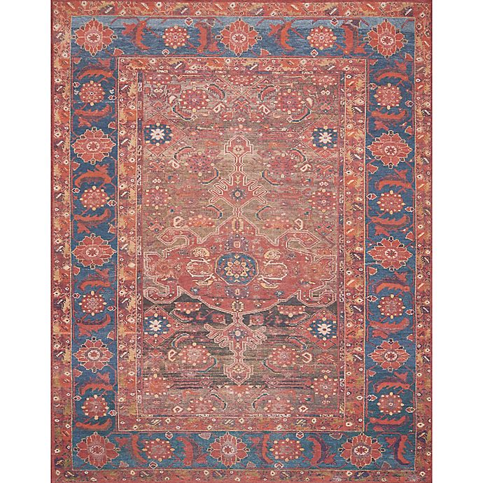 Alternate image 1 for Magnolia Home by Joanna Gaines 10-Foot x 13-Foot Area Rug in Rust/Blue