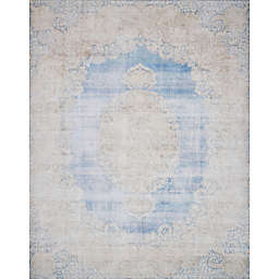 Magnolia Home by Joanna Gaines Lucca Rug in Light Blue/Sand