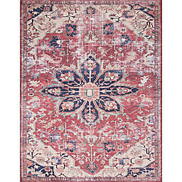Magnolia Home by Joanna Gaines Lucca 7-Foot 6-Inch x 9-Foot 6-Inch Area Rug in Rust/Ivory