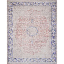 Magnolia Home by Joanna Gaines Lucca Rug in Terracotta/Blue
