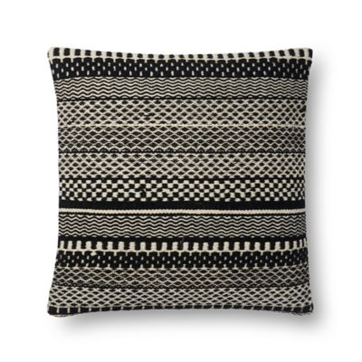 Magnolia Home by Joanna Gaines Mikey Square Throw Pillow in Black