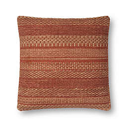 Magnolia Home by Joanna Gaines Mikey Square Throw Pillow in Rust