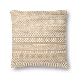 Magnolia Home by Joanna Gaines Mikey Square Throw Pillow in Straw