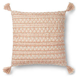 Magnolia Home by Joanna Gaines Tristin 22-Inch Square Pillow in Blush/Ivory
