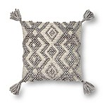 Magnolia Home by Joanna Gaines Karleigh Square Throw Pillow in Grey