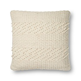 Magnolia Home Renee Square Throw Pillow in Ivory