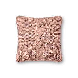 Magnolia Home by Joanna Gaines Adeline Square Throw Pillow in Blush