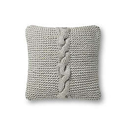 Magnolia Home by Joanna Gaines Adeline Square Throw Pillow in Grey