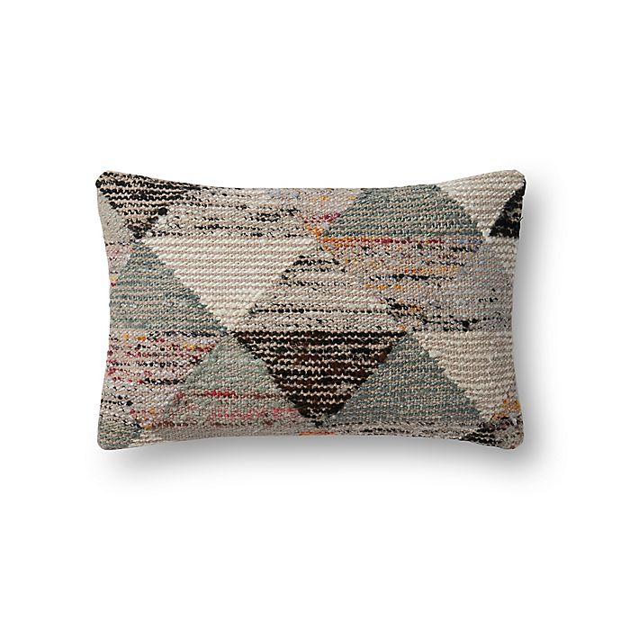 Alternate image 1 for Magnolia Home by Joanna Gaines Trinity Oblong Throw Pillow in Grey