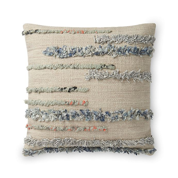Alternate image 1 for Magnolia Home by Joanna Gaines Harper Square Throw Pillow in Beige