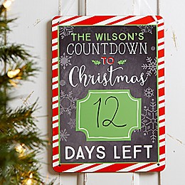 Christmas Countdown Dry Erase Board