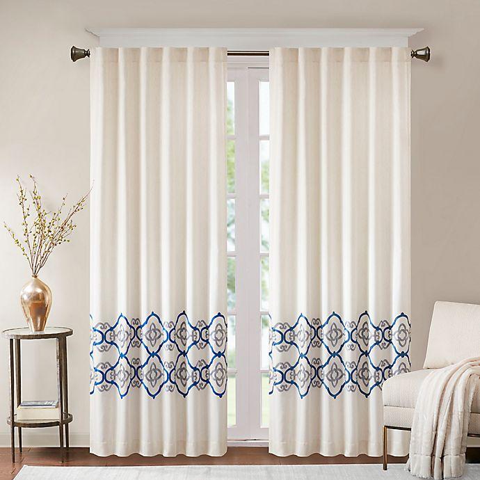 Alternate image 1 for Bombay Akemi Rod Pocket/Back Tab Room Darkening Window Curtain Panel