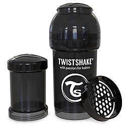 Twistshake Plastic Anti-Colic Baby Bottle in Black