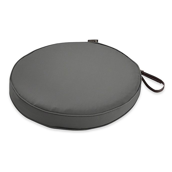 Alternate image 1 for Classic Accessories® Montlake™ FadeSafe 18-Inch Round Dining Seat Cushion in Charcoal