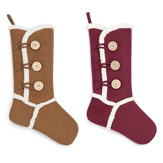 Alternate image 1 for UGG ® Bailey Button Stocking