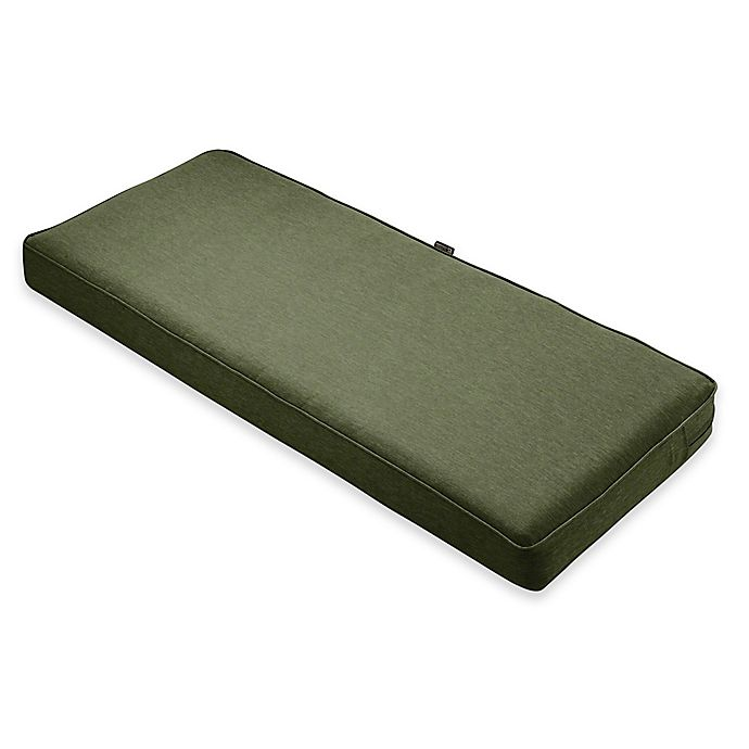 Alternate image 1 for Classic Accessories® Montlake™ FadeSafe 18-Inch x 48-Inch  Bench/Settee Cushion in Green