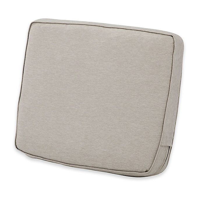 Alternate image 1 for Classic Accessories® Montlake™ FadeSafe 20-Inch x 23-Inch Lounge Back Cushion in Grey