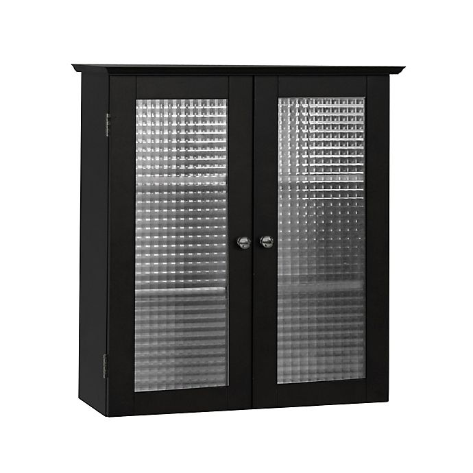 Alternate image 1 for Elegant Home Fashions Maggie Wall Cabinet with 2 Glass Doors in Espresso