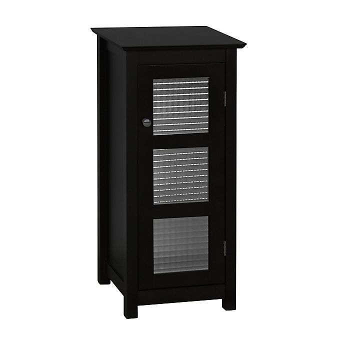 Alternate image 1 for Elegant Home Fashions Maggie Floor Cabinet with Glass Door in Espresso
