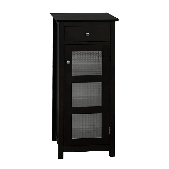 Alternate image 1 for Elegant Home Fashions Maggie 1 Door and 1 Drawer Floor Cabinet in Espresso