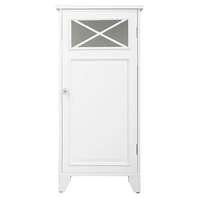 Alternate image 1 for Elegant Home Fashions Allison 1-Door Floor Tower Cabinet in White