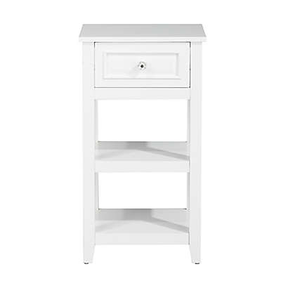 Elegant Home Fashions Allison Floor Cabinet in White