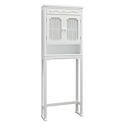 Elegant Home Fashions Over the Toilet Space Saver Cabinet in White