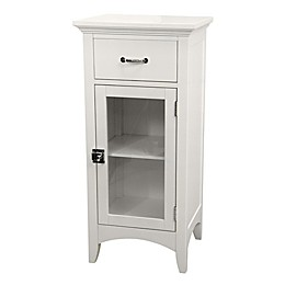 Elegant Home Fashions Helen Floor Cabinet with 1 Door and 1 Drawer in White