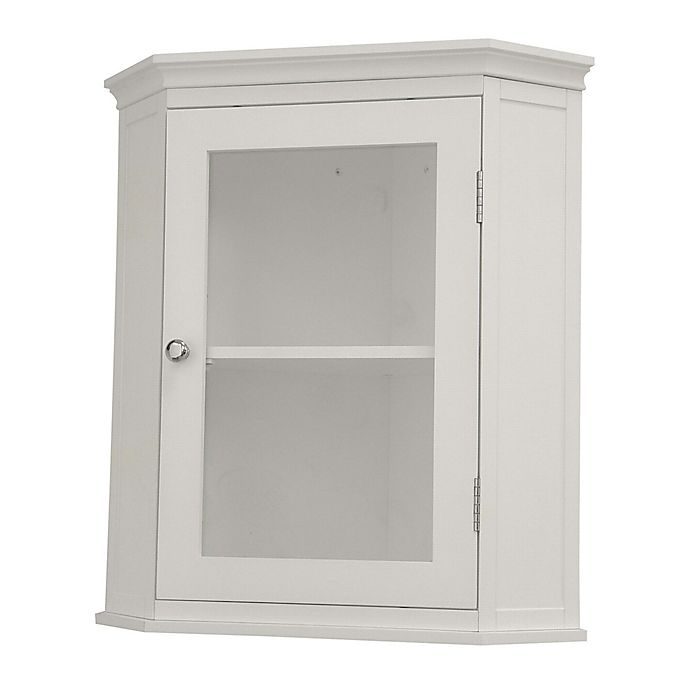 Alternate image 1 for Elegant Home Fashions Helen Corner Wall Cabinet in White