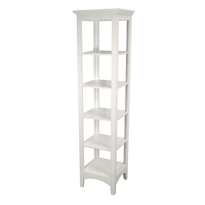 Alternate image 1 for Elegant Home Fashions Helen Linen Tower in White