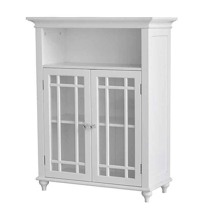 Alternate image 1 for Elegant Home Fashions Hadley Double Door Floor Cabinet in White