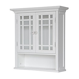 Elegant Home Fashions Hadley 2-Door Wall Cabinet in White
