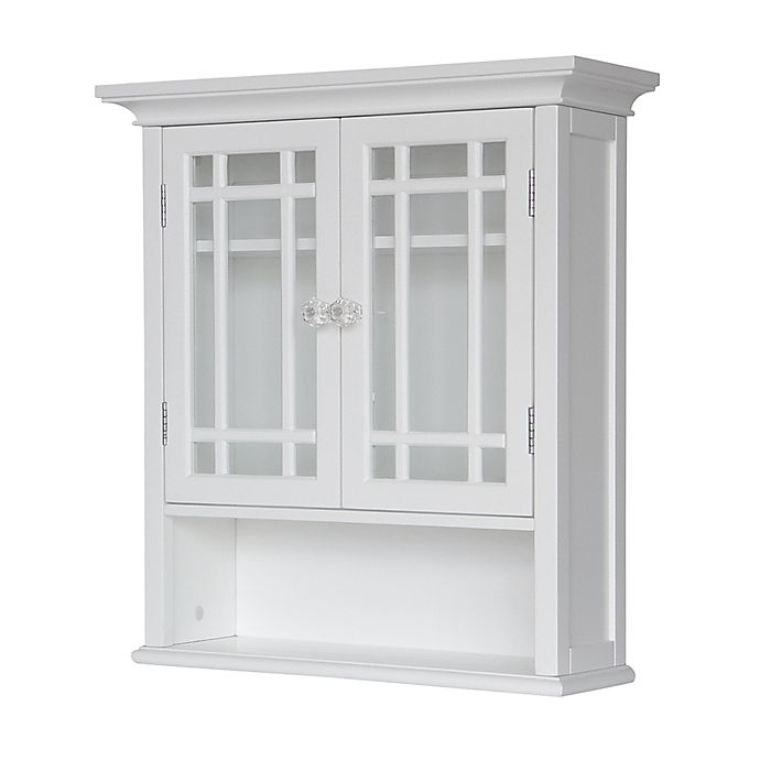 Alternate image 1 for Elegant Home Fashions Hadley 2-Door Wall Cabinet in White