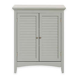 Elegant Home Fashions Hanna Floor Cabinet with 2 Shutter Doors in Grey