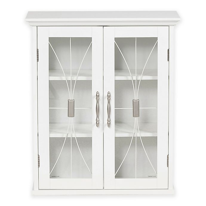 Alternate image 1 for Elegant Home Fashions Lafayette 2-Door Wall Cabinet in White