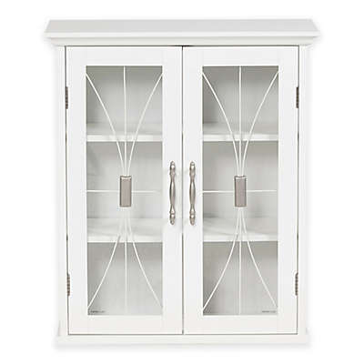 Elegant Home Fashions Lafayette 2-Door Wall Cabinet in White