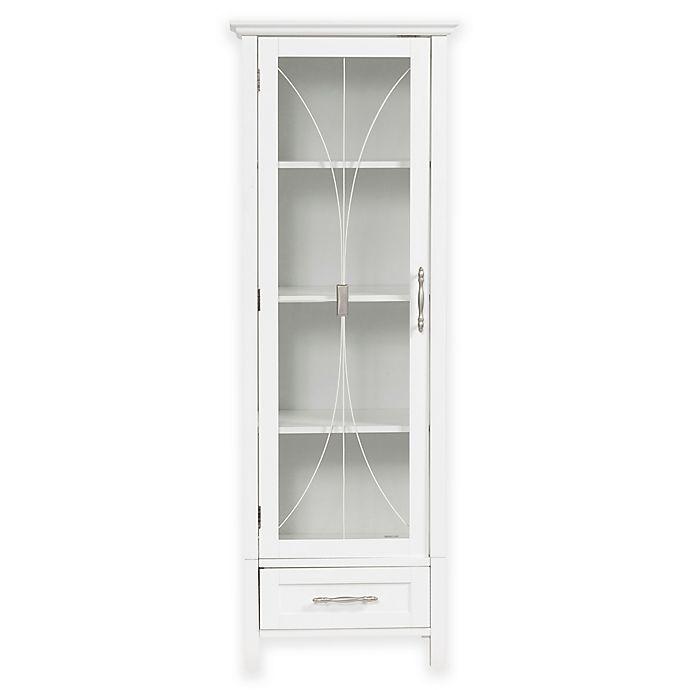 Alternate image 1 for Elegant Home Fashions Lafayette 1-Door Linen Cabinet in White