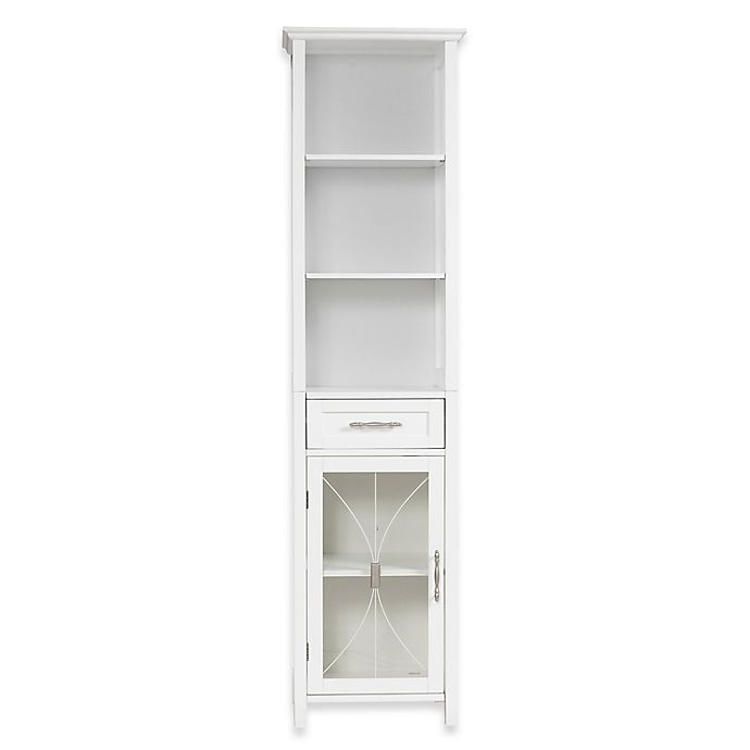 Alternate image 1 for Elegant Home Fashions Lafayette 1-Drawer Linen Cabinet in White