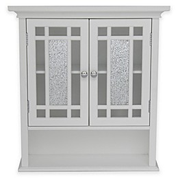 Elegant Home Fashions Margret 2-Door Wall Cabinet in White