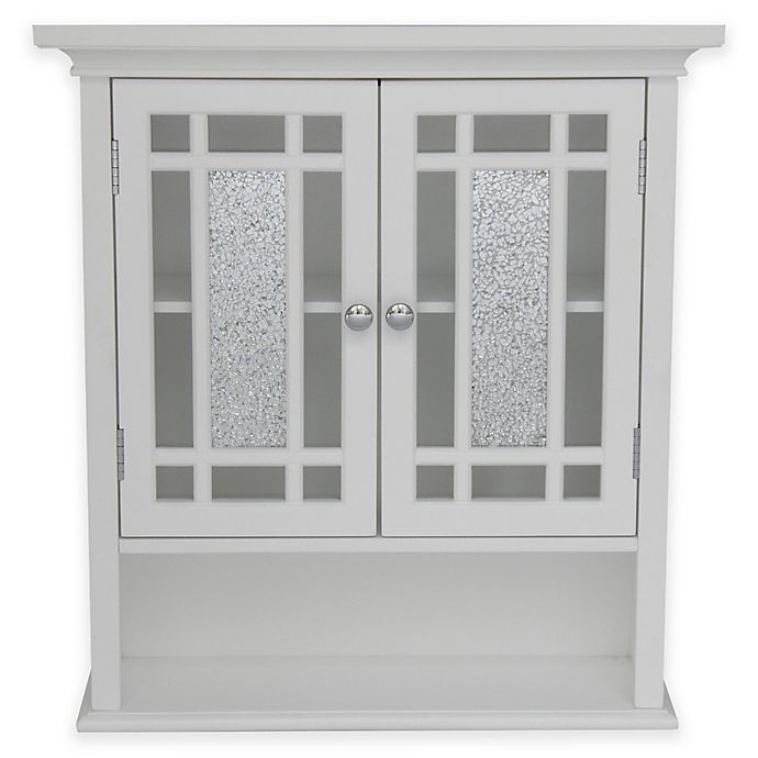 Alternate image 1 for Elegant Home Fashions Margret 2-Door Wall Cabinet in White