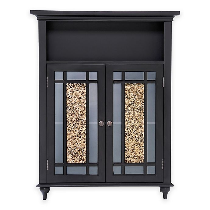 Alternate image 1 for Elegant Home Fashions Double Door Floor Cabinet in Dark Espresso
