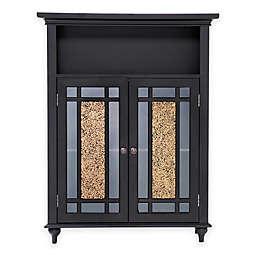 Elegant Home Fashions Double Door Floor Cabinet in Dark Espresso