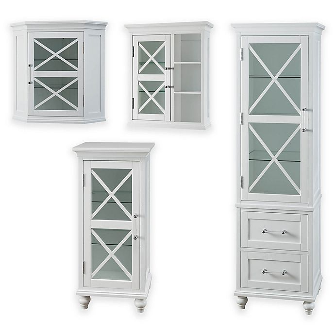 Alternate image 1 for Elegant Home Fashions Hugo Cabinet Collection in White