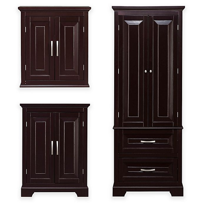Elegant Home Fashions James Cabinet Collection In Dark Espresso