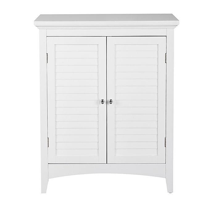 Elegant Home Fashions Jackie 2-Door Floor Cabinet in White ...