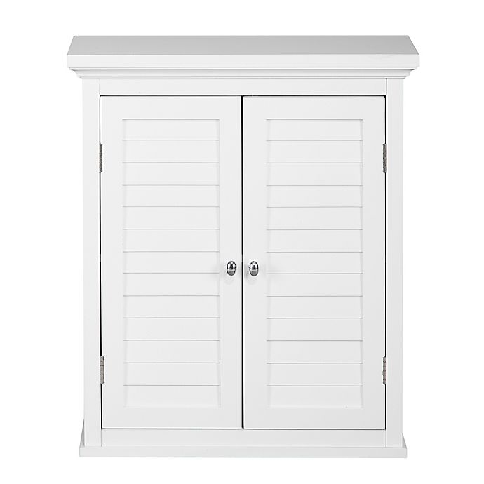 Alternate image 1 for Elegant Home Fashions Jackie 2-Door Wall Cabinet in White