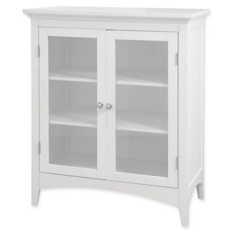Wondrous Elegant Home Fashions Olivia 2 Door Floor Cabinet In White Interior Design Ideas Clesiryabchikinfo