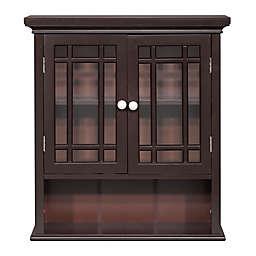 Hadley 2-Door Bath Wall Cabinet in Dark Espresso
