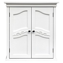 Elegant Home Fashions Versailles 2-Door Wall Cabinet in White